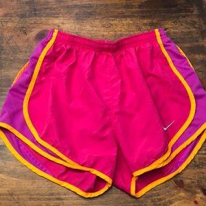 Pink and Purple Nike DriFit Tempo Shorts sz Small